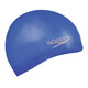 speedo Plain Moulded Silicone Cap Neon Blue